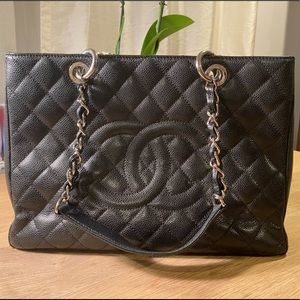 Chanel Timeless Quilted Shopping Tote